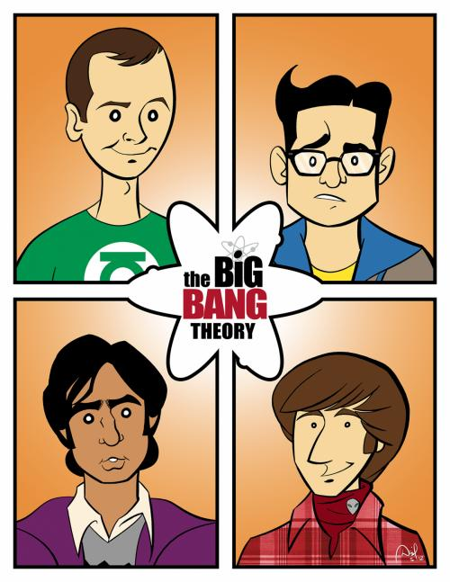 """The Big Bang Theory"" print"