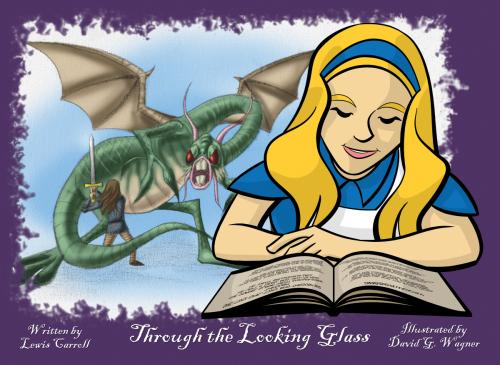 """Through the Looking Glass"" book illustration"